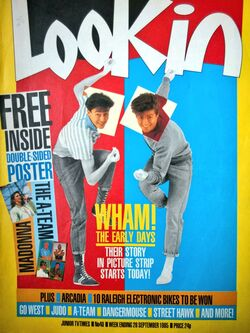 1985-09-28 Look-In 1 cover Wham