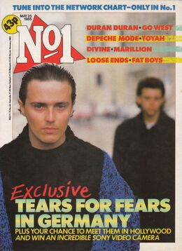 1985-05-25 No1 magazine 1 cover Tears For fears