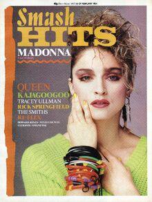 1984-02-16 Smash Hits 1 cover Madonna