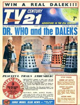 1965-07-31 TV21 1 cover DW and Daleks