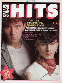 1982-07-08 Smash Hits 1 cover Soft Cell
