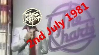 Top of the Pops Chart Rundown - 2nd July 1981 (Dave Lee Travis)
