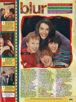 1991-05-01 Smash Hits Blur feature