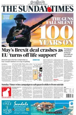 2018-11-11 Sunday Times 1 cover
