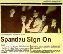 Spandau Cyhysalis signing in RM 1980-10-25