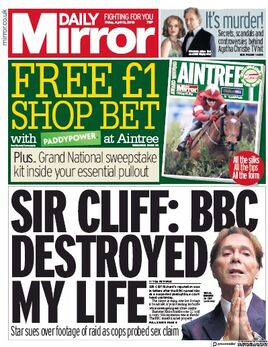 2018-04-13 Daily Mirror 1 cover