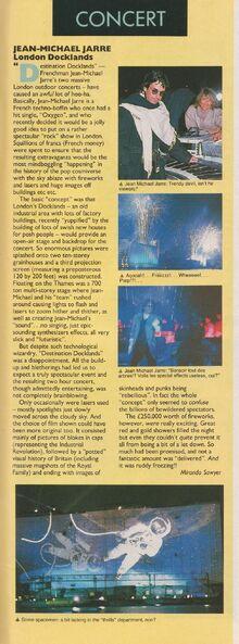 Docklands live review Smash Hits 1988-11-19 p.79