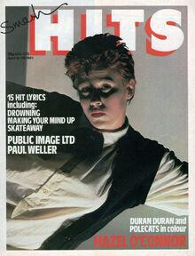 1981-04-15 Smash Hits 1 cover Hazel O'Connor