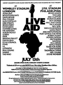 1985-07-13 Live Aid poster