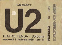 U2 ticket 1985