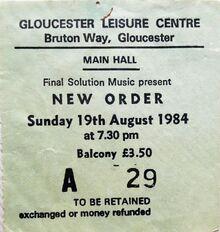 1984-08-19 New Order live Gloucester