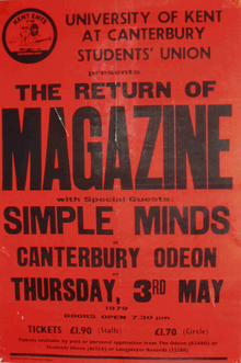 1979-05-03 Magazine Simple Minds poster