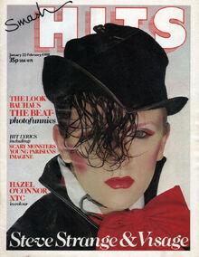 Smash Hits, January 22, 1981 - p.01 Visage cover