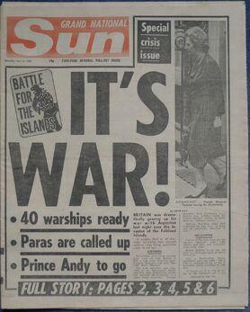 1982-04-03 The Sun1 cover War
