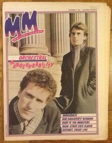 1981-11-07 MM OMD front cover