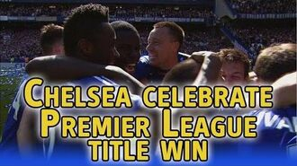 Chelsea celebrate winning Premier League title at Stamford Bridge
