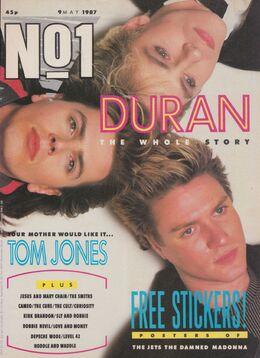 1987-05-09 No1 mag 1 cover Duran Duran 3