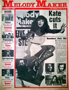 1980-10-04 Melody Maker 1 cover Kate Bush