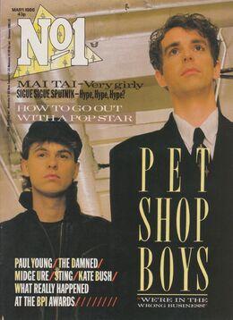 1986-03-01 No1 magazine cover Pet Sho Boys