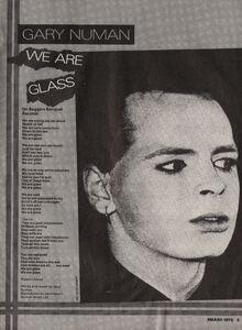We Are Glass full page lyrics Smash Hits May 1980