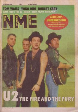 1988-10-22 NME 1 cover U2