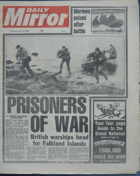 1982-04-03 Daily Mirror 1 cover War