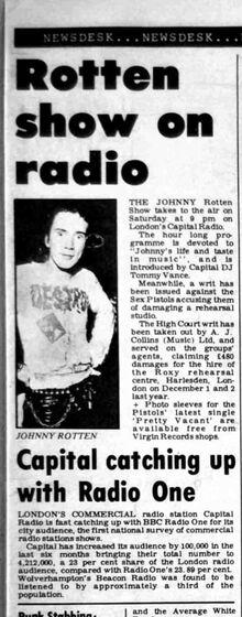 Record-Mirror-1977-07-16-05 Johnny Rotten on Capital Radio