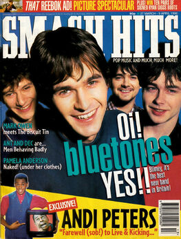 1996-03-27 Smash Hits 1 cover Bluetones