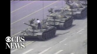1989- Man stops Chinese tank during Tiananmen Square protests