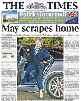 2018-12-13 The Times 1 cover PM May