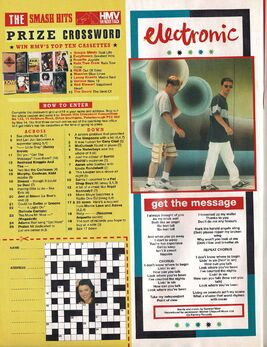 1991-05-01 Smash Hits Electronic Get the Message lyrics