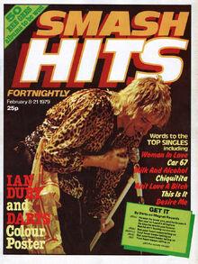 1979-02-08 Smash Hits, February 8-21, 1979 - p.01 first fortnightly Rod Stewart