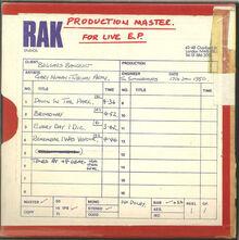 The Pleasure Principle 2009 CD3 Live EPS cover