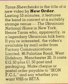1983-08-04 Smash Hits 3 New Order Taras Sch VHS
