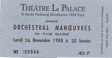 OMD November 80-Paris