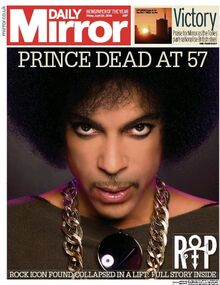 2016-04-22 Daily Mirror cover Prince