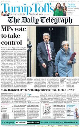 2019-03-26 Telegraph 1 cover