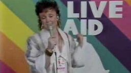 Live Aid 1985 Janice Long - Status Quo Interview
