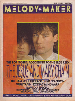 1987-04-25 MM 1 cover Jesus Mary Chain