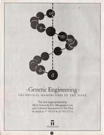 Genetic Engineering full page ad Smash Hits, February 17, 1983 - p.22