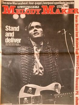 1981-04-04 MM cover Adam Ants