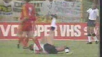 David Platt's finish ENGLAND vs BELGIUM ITALY 90 World cup