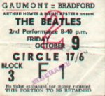 1964-10-09 Beatles Bradford ticket