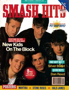 Smash Hits 24 January 1990 NKOTB cover