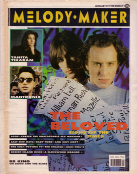 1990-01-27 the-beloved-on-the-cover-of-melody-maker-27th-january-1990