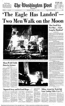1969-07-21 Wash Post 1 cover man on moon
