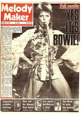1973-09-29 Melody Maker Bowie cover