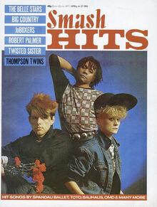 1983-04-14 Smash Hits 1 cover Thompson Twins