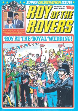 1981-08-01 ROY ROVERS 1 cover Royal wedding