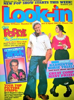 1981-04-11 Look-In 1 cover